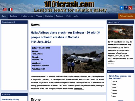 Photo image 1001 Crash – Vidéos et analyses d'accidents d'avions