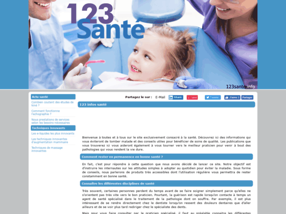 Photo image 123Sante point Info - Le Guide Annuaire de la Sante et Medecine sur internet