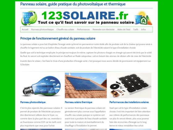 Détails : Panneau solaire
