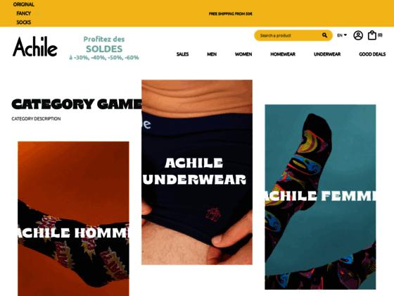 Détails : Achile : chaussettes fantaisie fabriquées en France