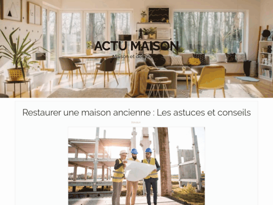 image du site https://www.actu-maison.com