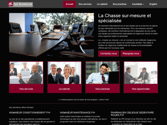 Détails : Conseil en recrutement, Ad Hominem
