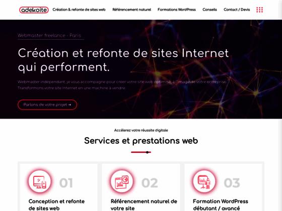 Détails : Webmaster Consultant SEO Freelance Paris | Julien ZITOLI