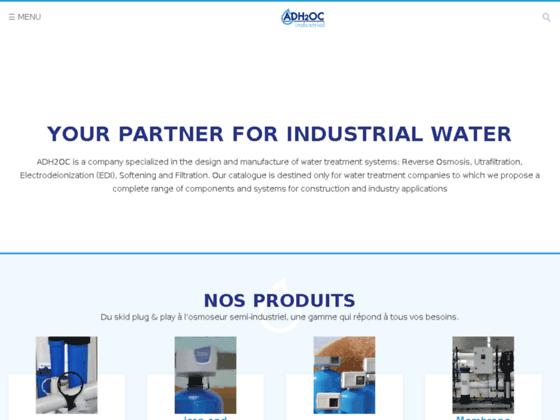 Détails : ADH2OC - société française de fabrication d'équipement de traitement des eaux industrielles