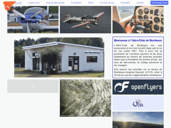 Photo image Bienvenue sur le site de l'Aéro-Club de Bordeaux