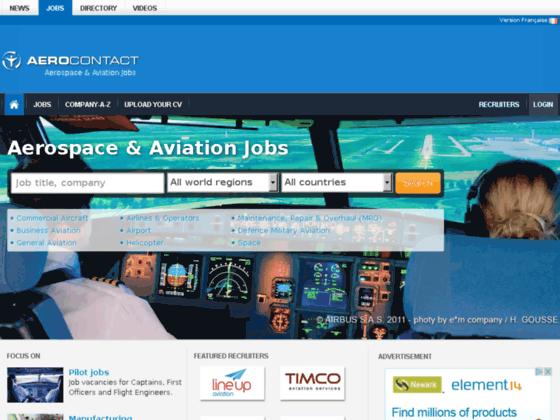 Photo image Emploi aéronautique et actualités ::: AEROCONTACT :::