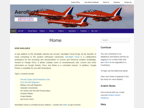 Photo image Aeroflight Home Page
