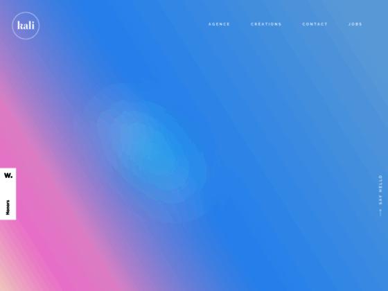 Détails : kali • agence web basée à lyon spécialisée dans la conception et la production de sites web et mobile
