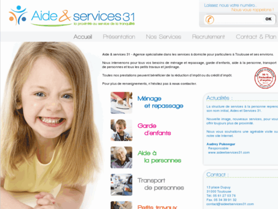 Détails : Aide et Services 31