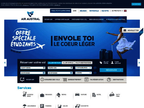 Photo image Air Austral - Réservation en ligne de votre vol : Réunion, Mayotte, Maurice, oc&eacute