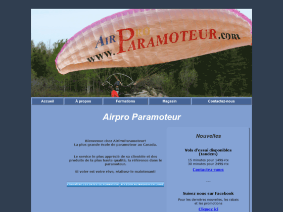 Photo image Airpro Paramoteur