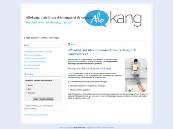 Détails : Un site internet créé par des utilisateurs de la plateforme Allokang