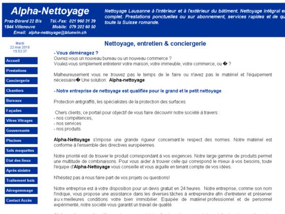 Détails : Alpha - société de nettoyages en Suisse