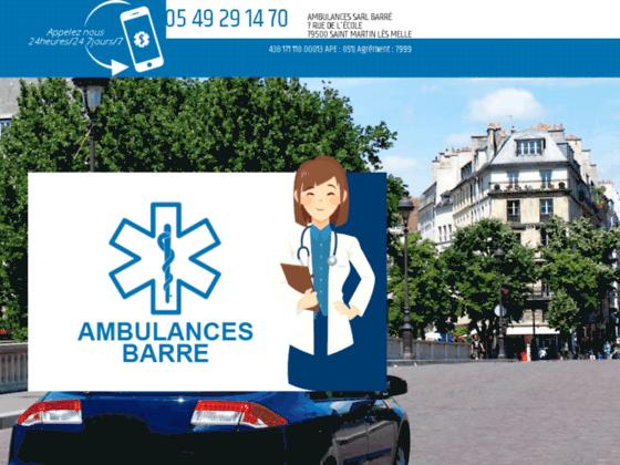 Détails : Ambulances SARL Barre, Entreprise de transport sanitaire