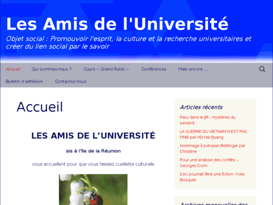 Photo image Les amis de l'universite