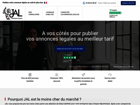 Détails : Journal Annonce Légale