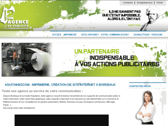 Détails : Création site web et referencement à Bordeaux et Nice
