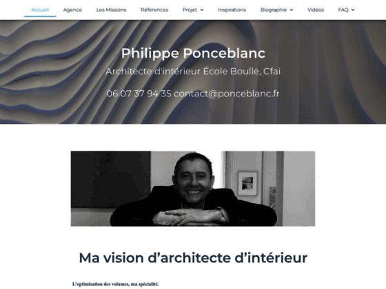 Philippe POnceblanc Architecte d'intérieur