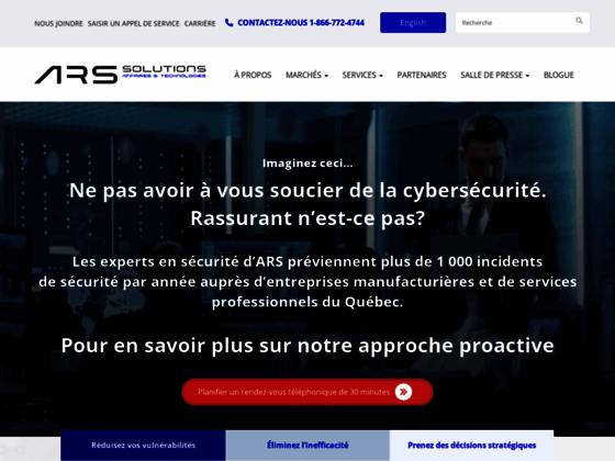 image du site https://www.ars-solutions.ca