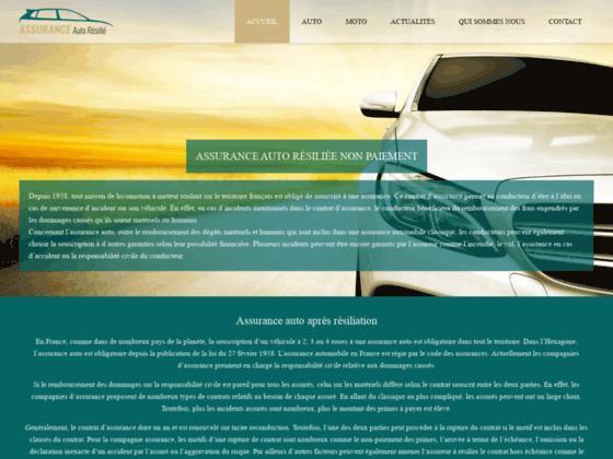 Une assurance auto pour résilier