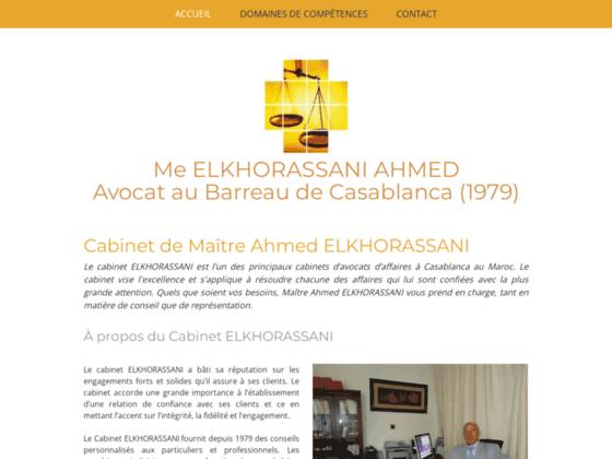 Détails : Ahmed EL Khorassani | Cabinet avocat d'affaires maroc
