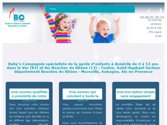 Détails : Baby's Compagnie : Nounou pour garde d'enfants (83)