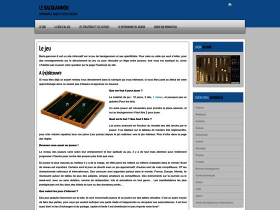 Détails : Les meilleurs coups au backgammon