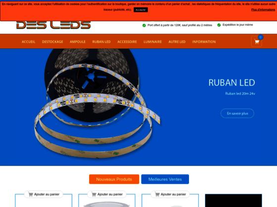 Détails : ampoule et bande LED