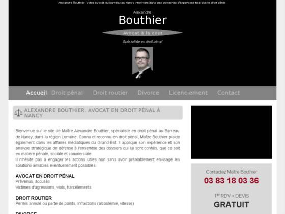 Détails : Se défendre devant le tribunal pénal avec Bouthier-alexandre-avocat.fr