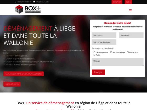 Détails : Box +: Garde meuble et stockage sécurisé à Liège