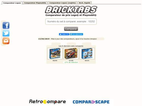 Détails : Comparateur de prix Lego