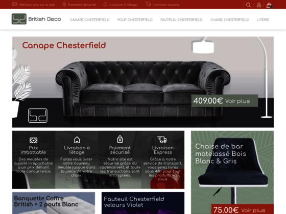 Détails : Le canapé chesterfield par British Déco