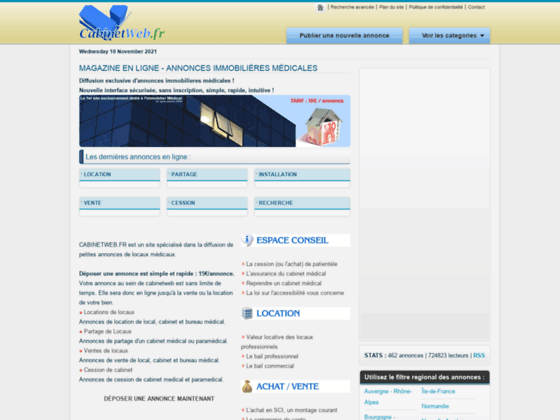 Photo image Annonces de cabinets m�dicaux - achat vente et location de locaux � usage m�dical