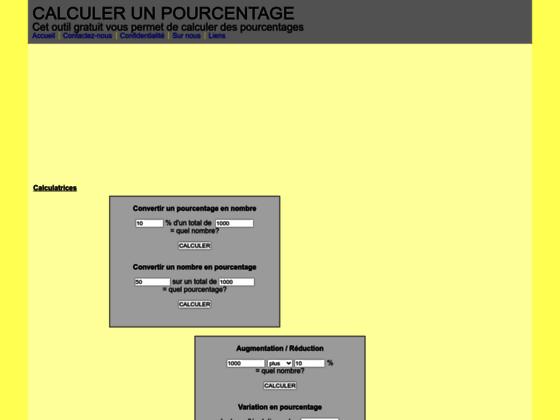 Détails : CalculerPourcentage.fr