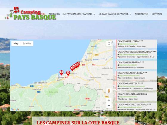 Détails : Annuaire des camping situés sur la côte basque