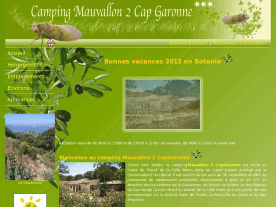 Détails : Camping *** Mauvallon 2 Cap Garonne