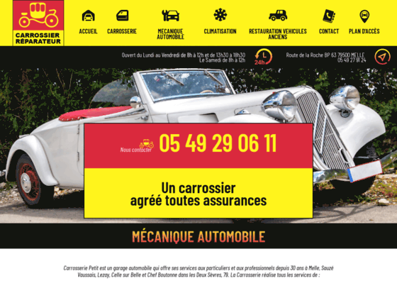 Détails : Carrosserie Petit, garage automobile