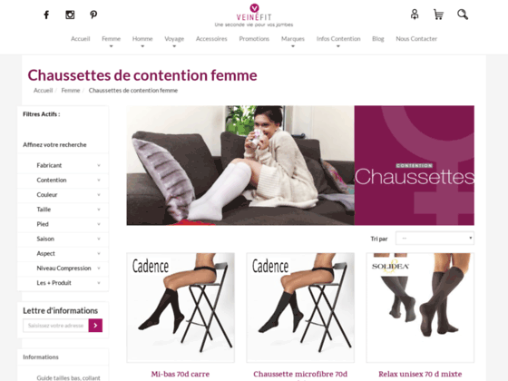 chaussette contention