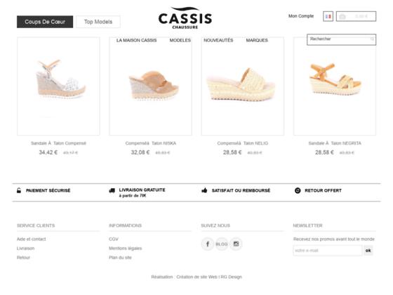 Détails : Chaussures cassis