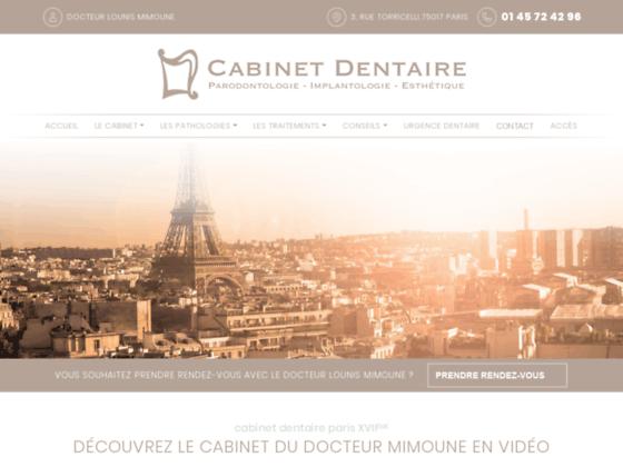 Détails : Accueil - Lounis Mimoune - Cabinet dentaire Paris 17ème