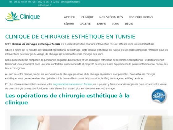 Clinique de chirurgie esthétique en Tunisie