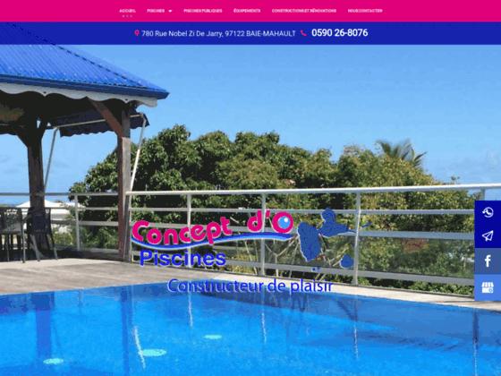 Détails : Concept d'O - Piscine en Guadeloupe