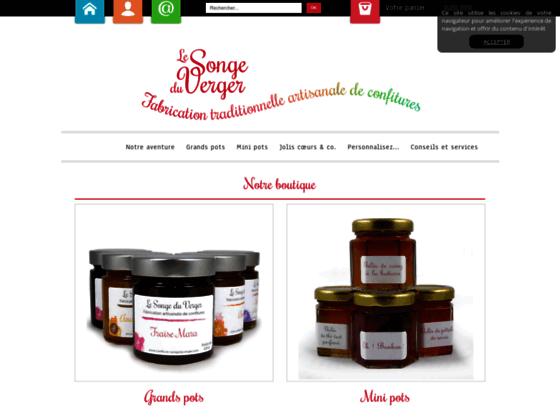 Photo image Confiture maison, gelees, confitures aux fruits : Songe du Verger - Achat en ligne