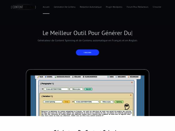 Détails : content generator