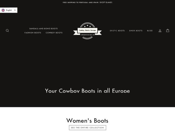 image du site http://www.cowboybootseurope.com