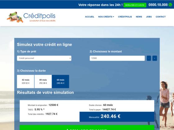 Détails : Créditpolis: Agence de crédit en ligne