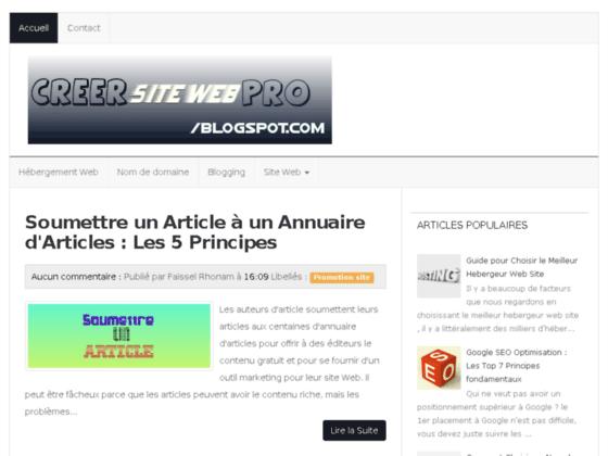 Détails : Creer site web pro