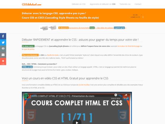 Détails : Comprenez totalement le langage CSS avec css debutant