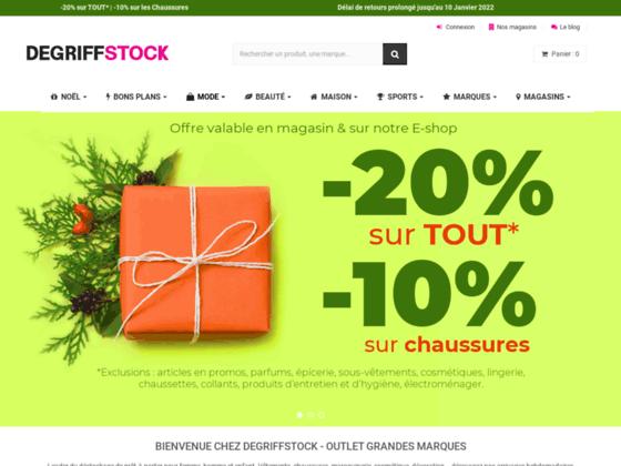 Détails : Degriffstock : déstockage de vêtements de marque