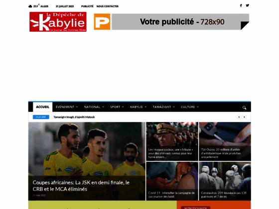 Photo image La depeche de Kabylie